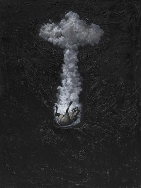 Wu Jian 吴健,坠入尘网中 #3,2015, Mixed media 综合材料,160cm×120cm