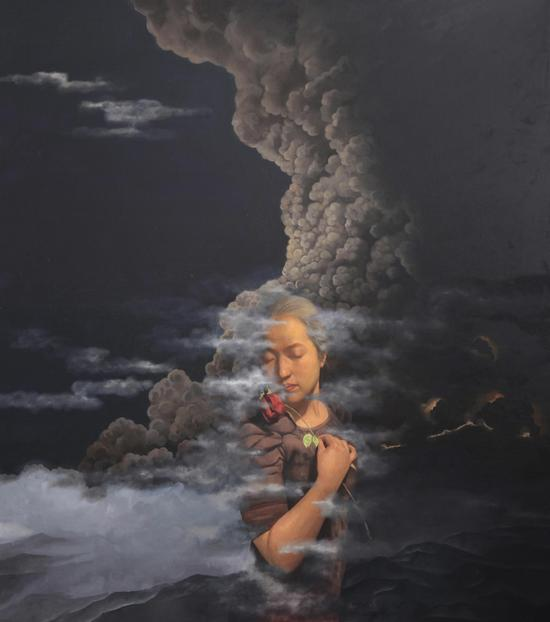 Wu Jian 吴健,卑微的留恋,2012,Oil on canvas 布面油画,180cm×160cm