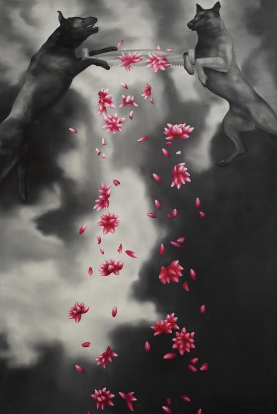 锯花 160x240CM 布面油画 年代2011