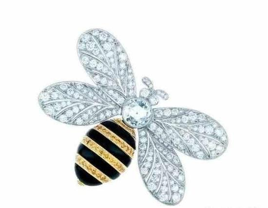 Tiffany & Co。 蒂芙尼,蜜蜂造型胸针