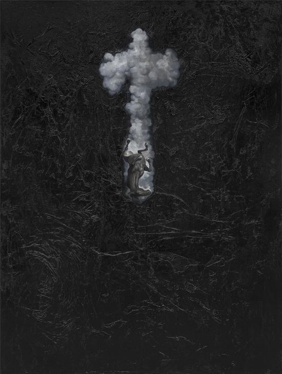 Wu Jian 吴健,坠入尘网中 #4,2015,Mixed media综合材料160cm×120cm