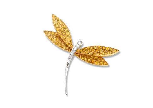 梵克雅宝蜻蜓造型胸针,梵克雅宝真是最热爱自然元素的珠宝品牌之一