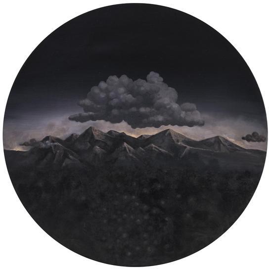 Wu Jian 吴健,无言风景 #2,2014,Oil on canvas 布面油画,直径80cm