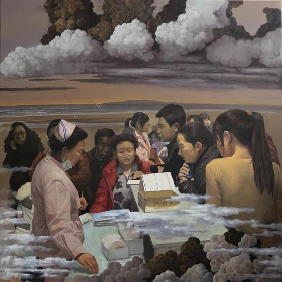 Wu Jian 吴健,海的那边,2012,Oil on canvas 布面油画,180cm×180cm