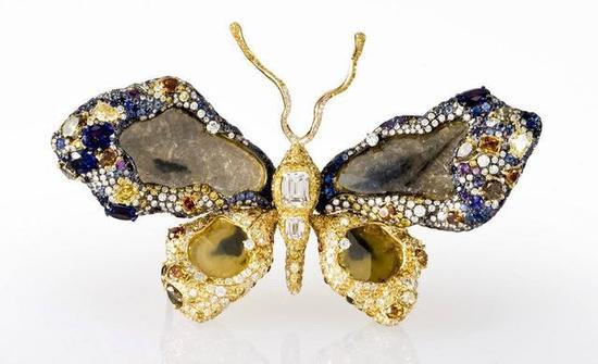 CINDY CHAO艺术珠宝,这枚蝴蝶珠宝还被美国博物馆所收藏