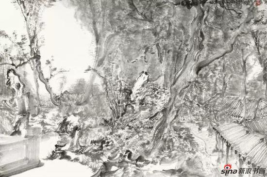 苏州写生之一 90×60cm 纸本水墨 2014