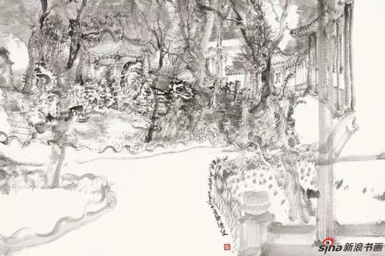 苏州写生之三 90×60cm 纸本水墨 2014
