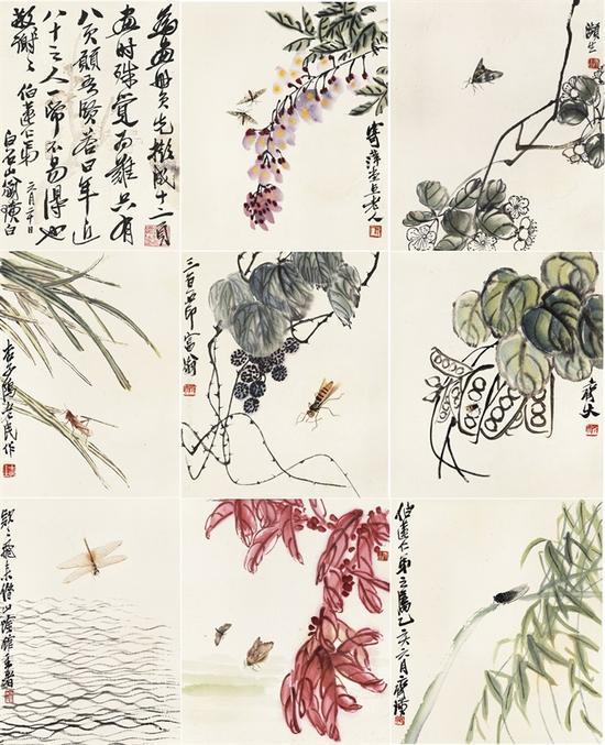 齐白石 花卉草虫