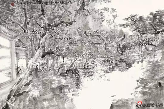 苏州写生之五 90×60cm 纸本水墨 2014