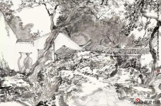 苏州写生之二 90×60cm 纸本水墨 2014