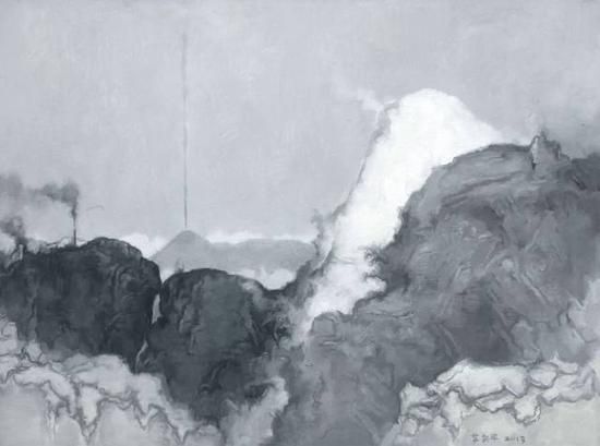 苏新平,《灰色12号》,布面油画,150x200cm,2013