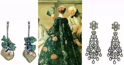 图为中世纪贵族的异形珍珠耳环