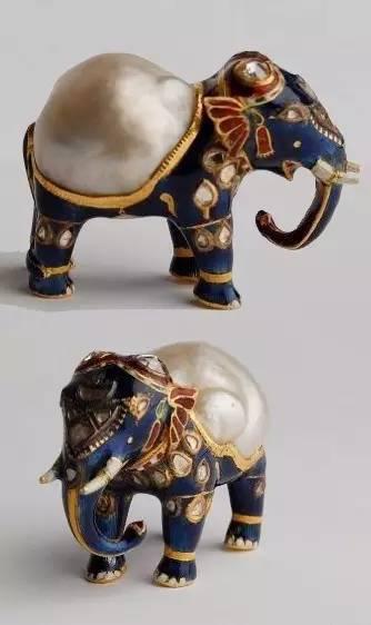 图为异形珍珠摆设 (小象)