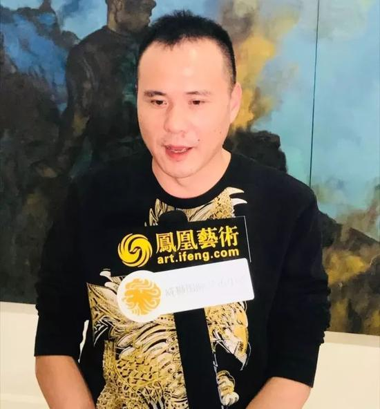 """威狮国际艺术发展有限公司总裁陈齐杰接受""""凤凰艺术""""采访"""