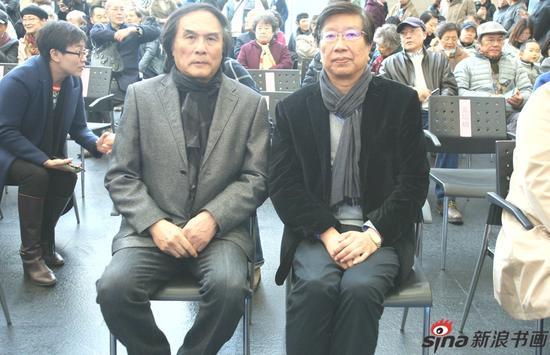 夏葆元老师和刘海粟美术馆馆长朱刚老师