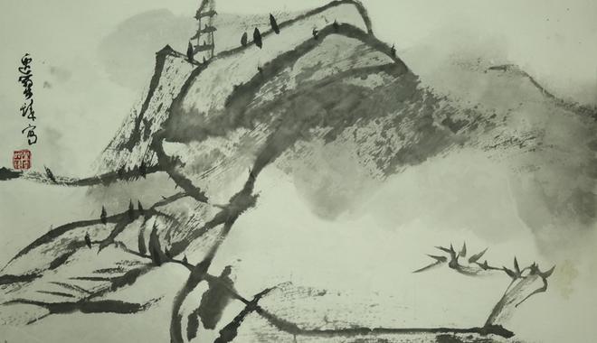 新浪|寄情山水写人生 罗步臻大写意山水画的新高度