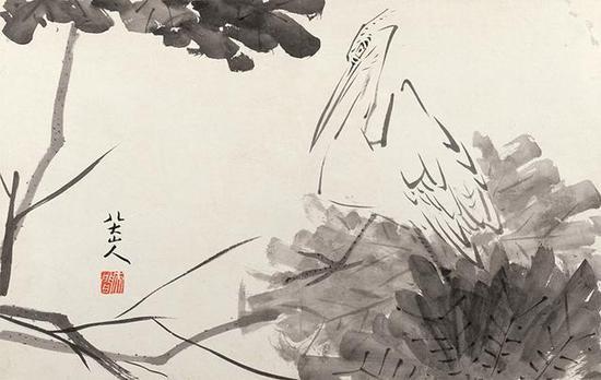 八大山人《杂图图册》,纸本水墨,30×47cm,清,故宫博物院藏