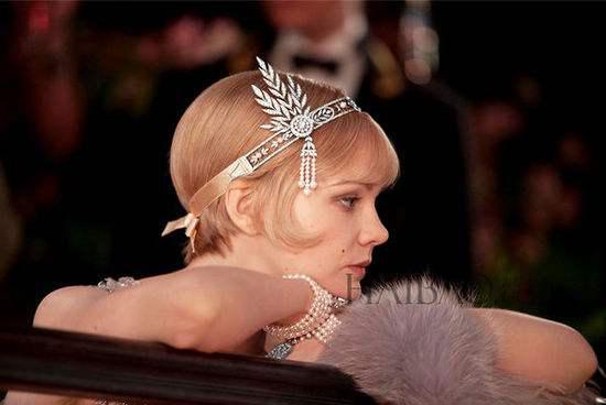 《了不起的盖茨比》中的钻石珍珠头饰