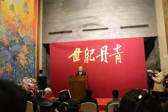 《世纪丹青—吴昌硕·齐白石绘画展》李砚强先生主持开幕式
