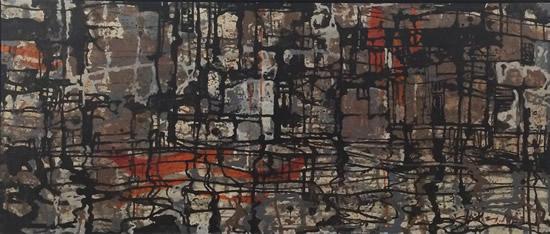 查国钧 水乡 布面油画 60×133cm 1982