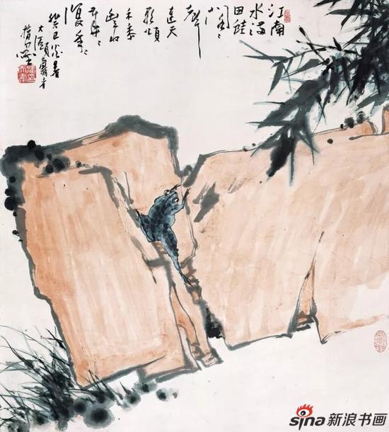 潘天寿 江南春雨图轴 85.8×77.2cm 1953年