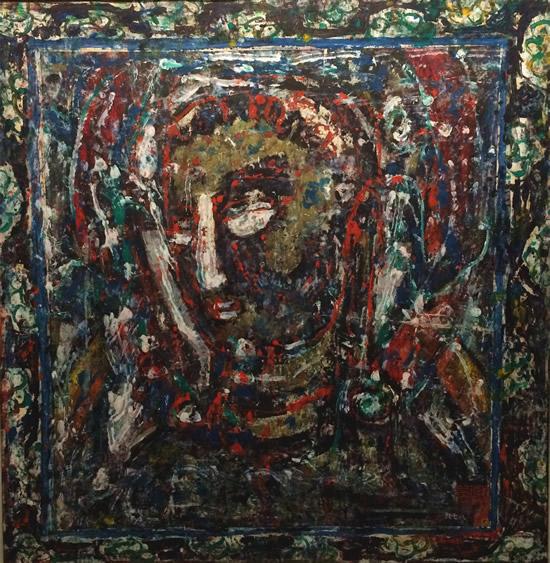 孔柏基 菩萨像  纸本油画  82×80cm  1982