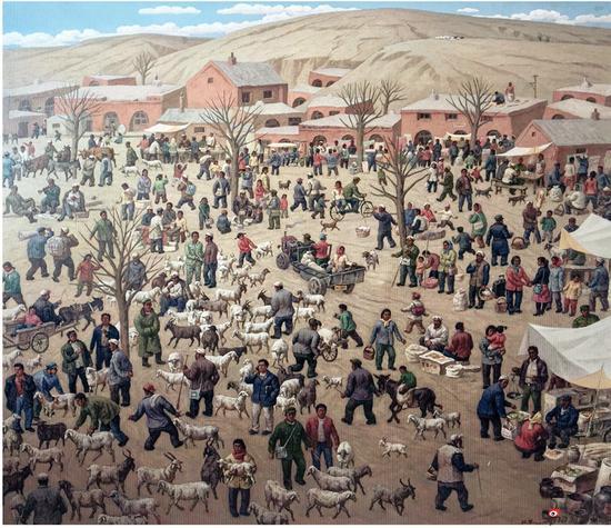 孙政学《塬上的风景》油画 130x150cm