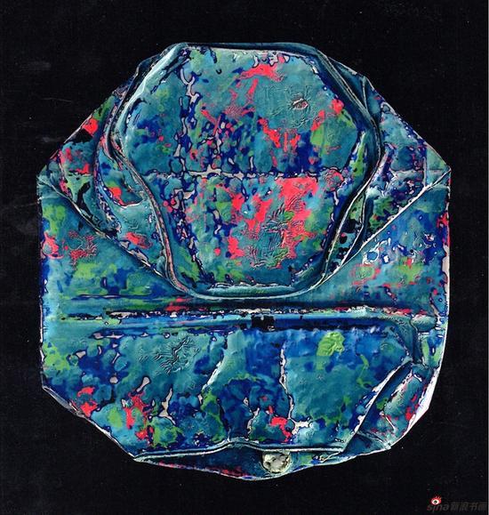 林桂明《漆·时·痕》漆画 100x100cm