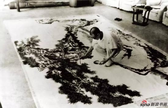 潘天寿创作巨幅作品