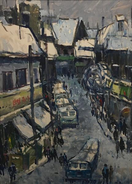 黄阿忠 曹家渡 布面油画 54×38cm 1978