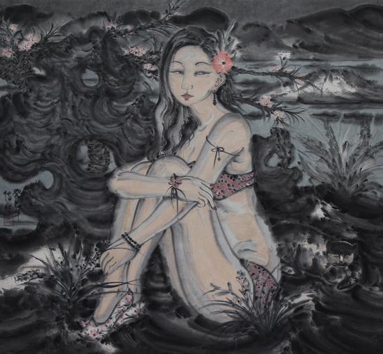 章惜炼-娴雅温和NO.7-国画-2013-广州美术学院