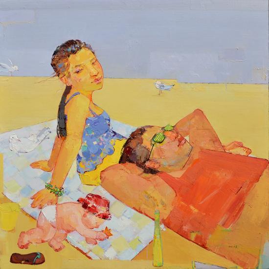 赵丽静-夏日的海风-油画-2013-中国人民大学-硕士