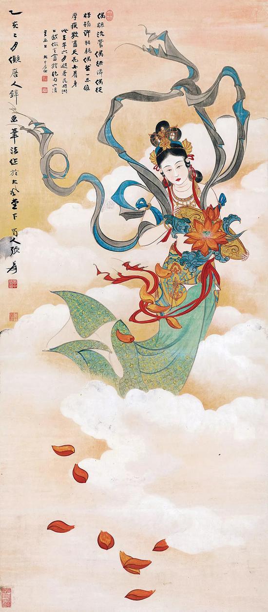 1935年《天女散花图》乙亥本