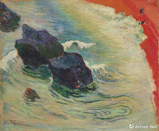 保罗·高更(1848-1903) 《海浪》 1888年8月至10月作 3518.75万美元