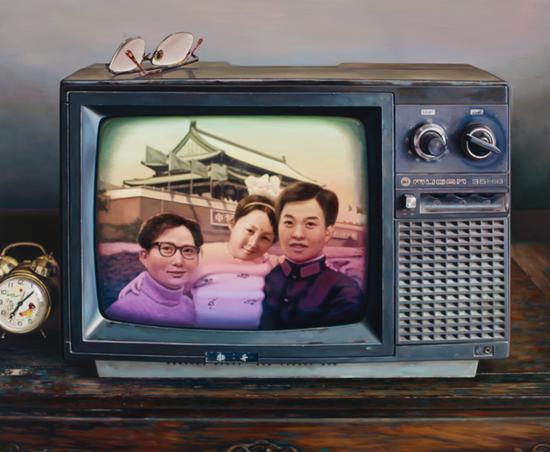 中国记忆-只生一个好 布面油画 150x180cm 2010年  (入编《20世纪中国当代艺术》吕澎/著