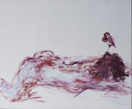 鸟人之十八 150x200cm 布面油画2008