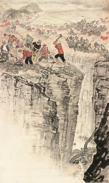 徐孅,大坎水,20世纪70年代,113.5×68cm,纸本水墨设色,中国画