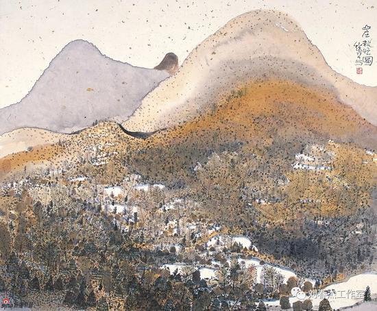 山庄秋忙图丨65cm×53cm丨2005年