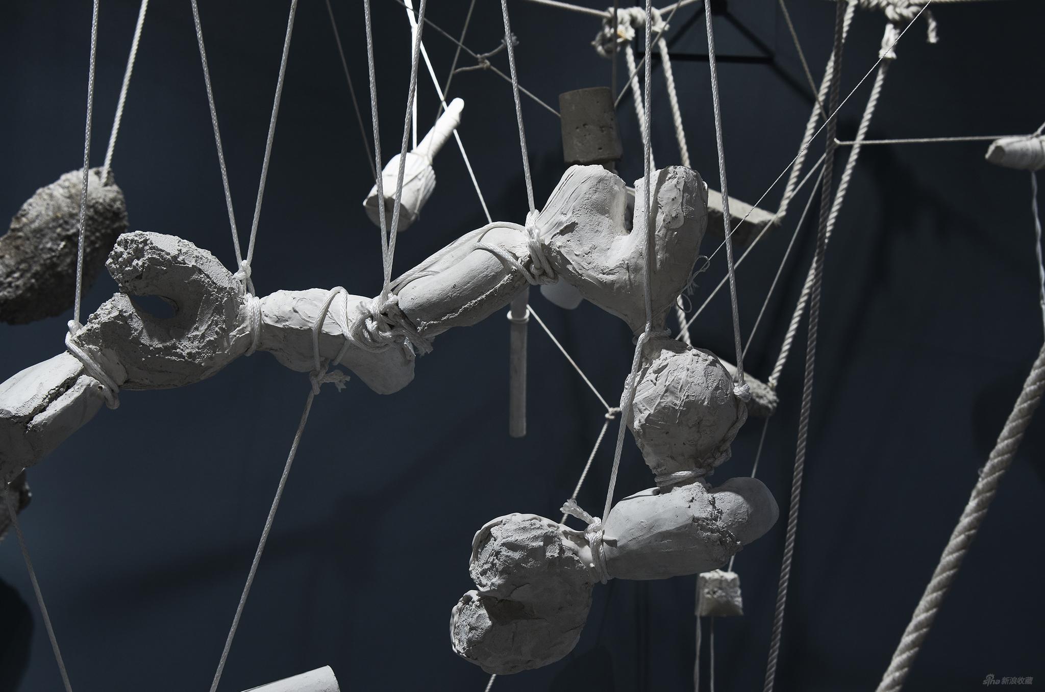 Carriage Constellation(細節圖) 2010 石膏, 繩索