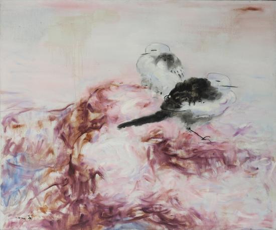 鸟人系列之十三 150cmx180cm 布面油画 2008