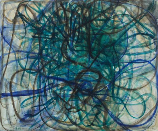 张恩利,《东西》,布面油画,250×300cm,2016