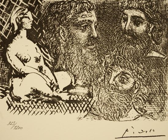 毕加索 《沃拉尔系列25 》平版版画 40×50cm 323/1200 雕版签名
