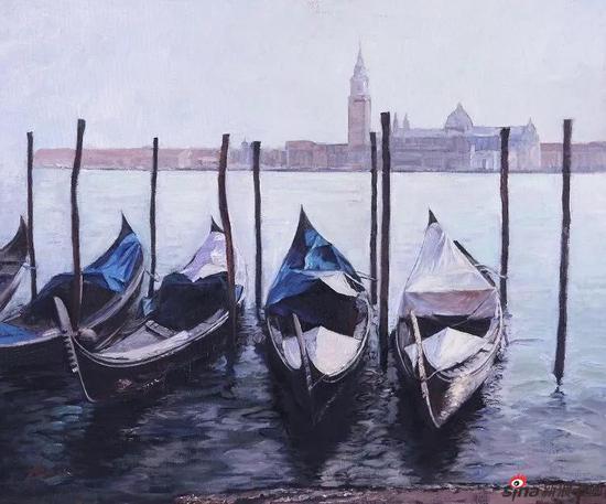 《威尼斯No.1》40X50cm 油画