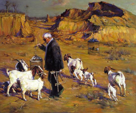 油画《温暖的土地》180cm*150cm 2009年 (2011年被私人收藏)