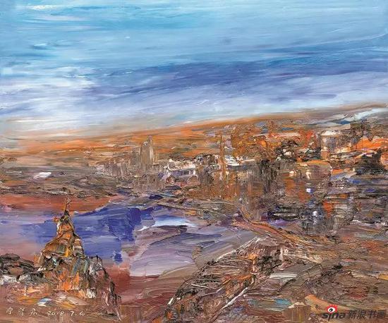 《诗意上海》100x120cm 油画