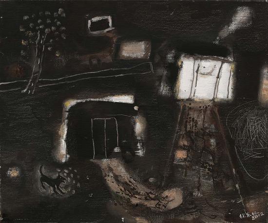 16《夜梦》徐东林 50cm×60cm 布面油画 2012年