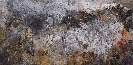 黄河流经;北斗星 120x240cm2017