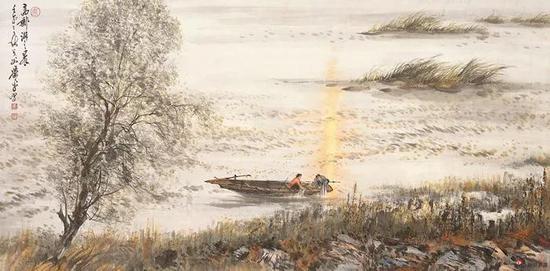 高邮湖之晨 2002年