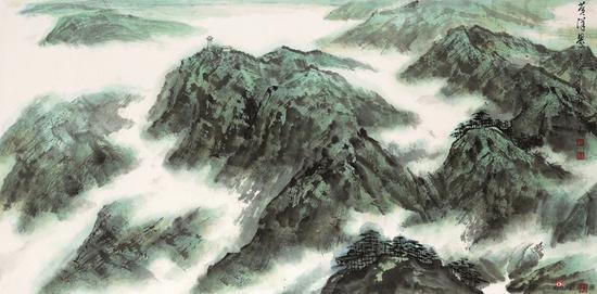 王林森作品《黄洋界》138X69cm 2010