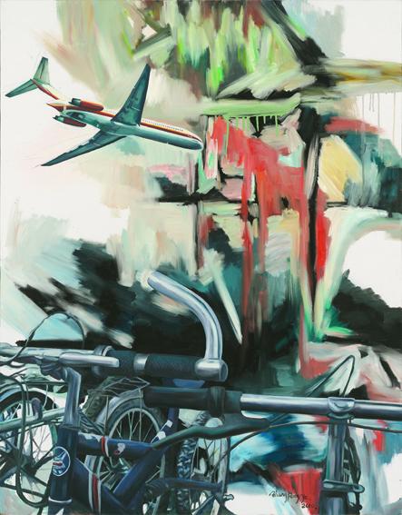 《travel No·31》油画,布面、油彩,134×105cm,2010年